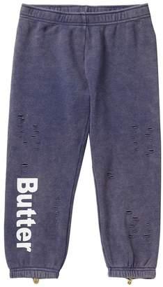Butter Shoes Super Soft Mineral Wash Fleece Cropped Pants (Big Girls)