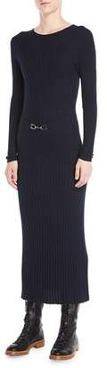 247dbaac01 at Neiman Marcus · Gabriela Hearst Luisa Crewneck Long-Sleeve Ribbed Wool  Maxi Dress