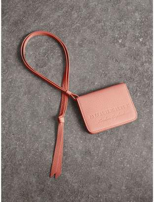 Burberry Embossed Leather ID Card Case Charm