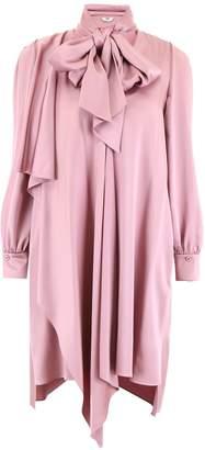 Fendi Dress With Scarf Collar
