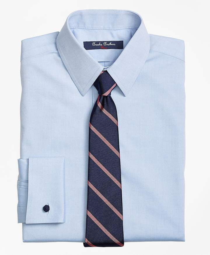 Brooks brothers non iron supima pinpoint cotton french for Brooks brothers boys shirts