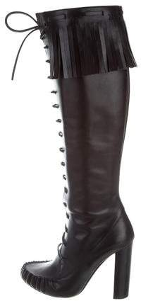 Tom Ford Leather Lace-Up Boots
