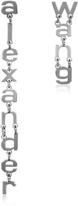Alexander Wang Small Letters Signature Earrings
