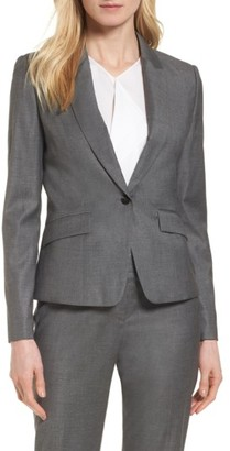 Women's Boss Janore Wool Blend Suit Jacket $595 thestylecure.com