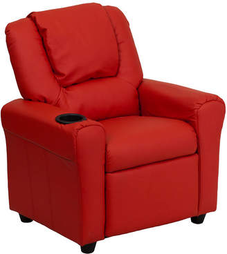 Asstd National Brand Contemporary Kids Recliner with Cup Holder and Headrest
