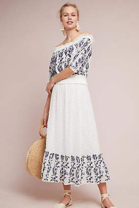 MISA Mayfield Embroidered Skirt