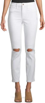 Joe's Jeans The Charlie Destroy Knee-Rip Ankle Skinny Jeans
