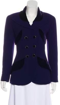 Chanel Peak-Lapel Button-Up Jacket