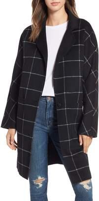 Rails Larsen Windowpane Plaid Wool Blend Coat