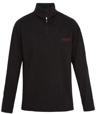 Balenciaga - Sinners Print Roll Neck Cotton Jersey Top - Mens - Black