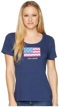 Life is Good Americana Palms Crusher Scoop Tee Women's T Shirt