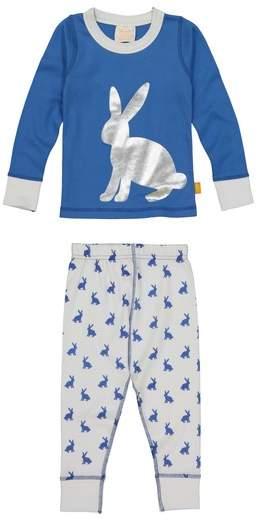 Masala Baby Masasla Baby Bunny Hop Fitted Two-Piece Pajamas