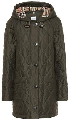 Burberry Quilted technical twill parka