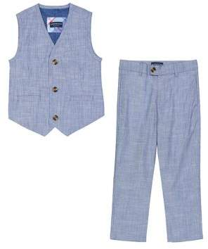 Andy & Evan Baby Boy's Two-Piece Chambray Suit Vest and Pants Set
