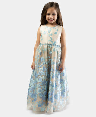 Bonnie Jean Toddler Girls Embroidered Ball Gown