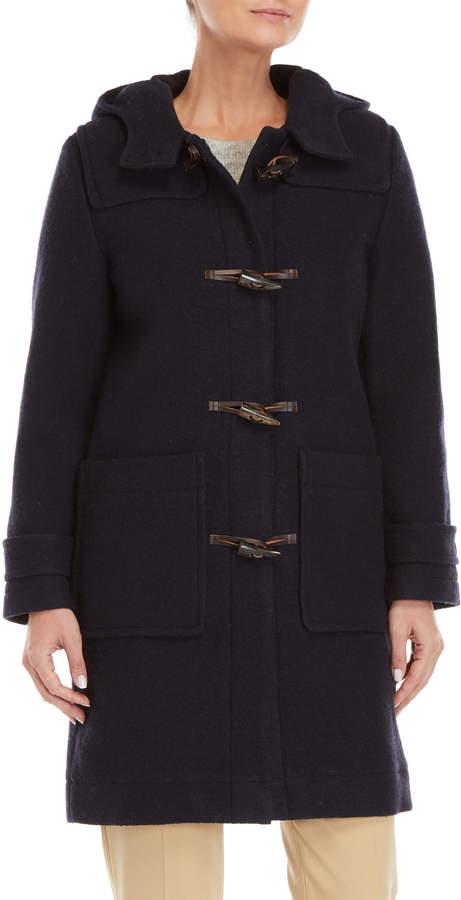 Le Mont St Michel Hooded Virgin Wool Duffle Coat