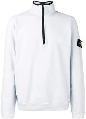Stone Island zipped collar sweatshirt