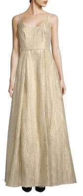 Aidan Mattox Organza Long Dress