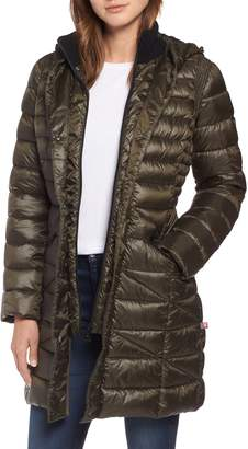 Bernardo Bib Hooded Walker Coat