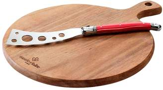 Marie Claire Laguiole Domain Round Board with Cheese Knife 22cm