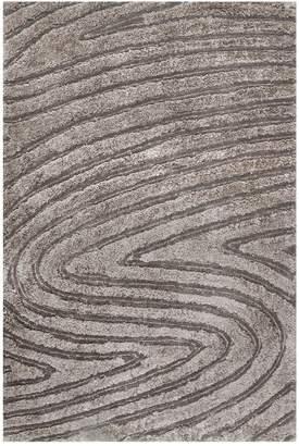 nuLoom Handmade Isabel Swirl Rug - Grey Brown
