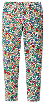 Boden Mini Girls' Corduroy Floral Print Leggings, Multi