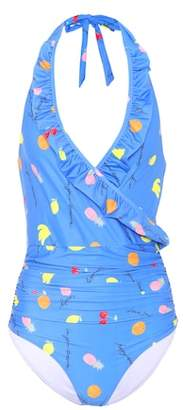 Ganni Dexies halterneck swimsuit