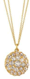 Renee Lewis 18K Yellow Gold Antique Cushion Cut Pave Diamond Necklace