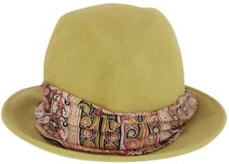 Etro Green Rabbit Hats