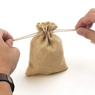 YUXIER 50 Burlap Bags with Drawstring Favor Bags for Wedding Party