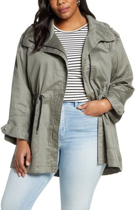 Halogen Drawstring Waist Washed Parka