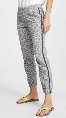 Sundry Leopard Zip Joggers