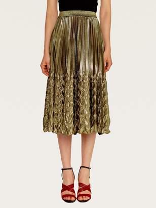Shein Elastic Waist Pleated Skirt