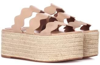 Chloé Lauren leather platform sandals