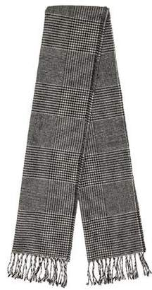 Christian Dior Wool Houndstooth Scarf