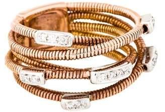 Ring 18K Diamond Snake Chain Crossover