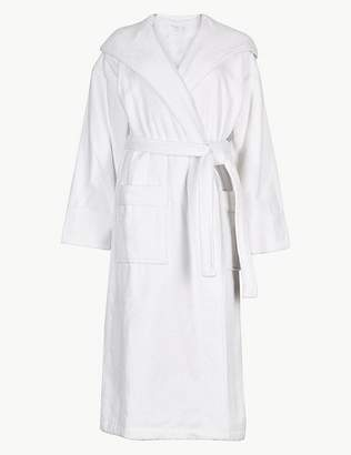 Marks and Spencer Pure Cotton Velour Dressing Gown