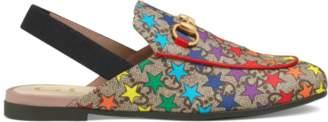 Gucci Children's Princetown GG rainbow star slipper