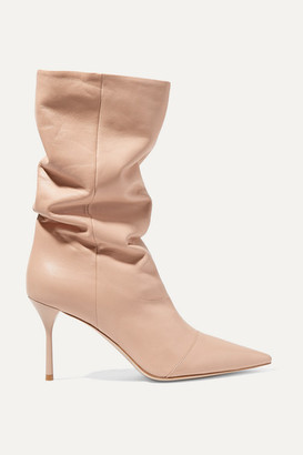 Miu Miu Leather Boots - Blush