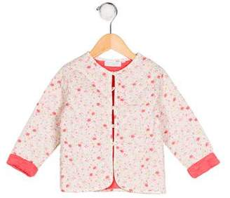 Cadet Girls' Floral Print Quilted Jacket