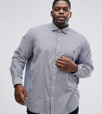 Polo Ralph Lauren Big & Tall Oxford Shirt In Navy Gingham