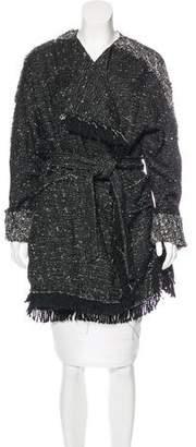 Free People Knit Knee-Length Coat