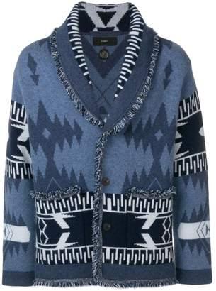 Alanui cashmere patterned cardigan