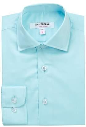 Isaac Mizrahi Solid Dress Shirt (Toddler, Little Boys, & Big Boys)