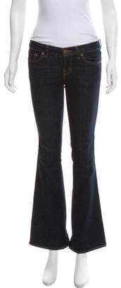 J Brand Mid-Rise Wide-Leg Jeans