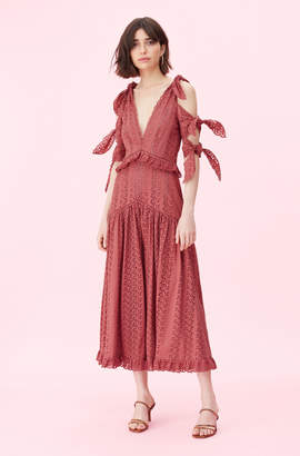 3b3657ad5aecde Rebecca Taylor Karina Eyelet Bow Dress