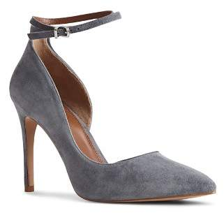 Reiss Lya Double Ankle Strap Suede Pumps
