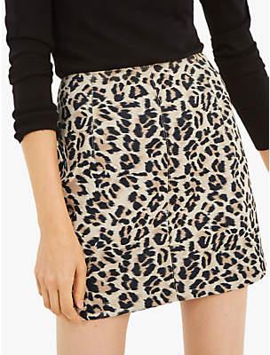 Oasis Faux Leopard Mini Skirt, Animal
