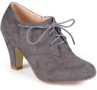 f7b32f311c7bd7 Women s Vintage Round Toe High Heel Lace-up Faux Suede Booties
