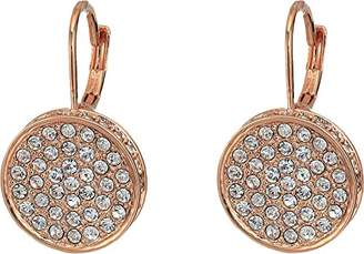 Vince Camuto Women's Pave Round Leverback Earrings